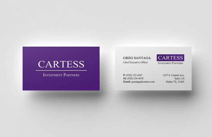 Business Card Mockup for Cartess Investment Partners